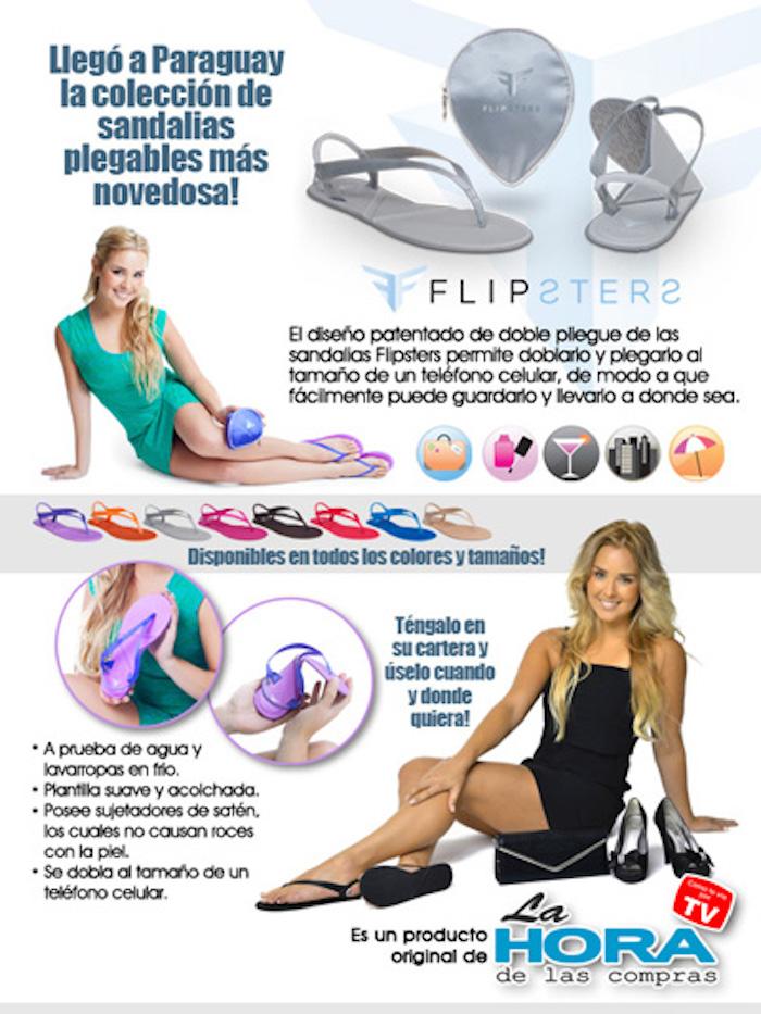 Sandalias Portátiles Flipsters Flip Flops