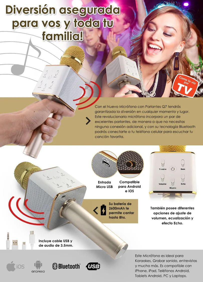 Microfono Bluetooth Karaoke