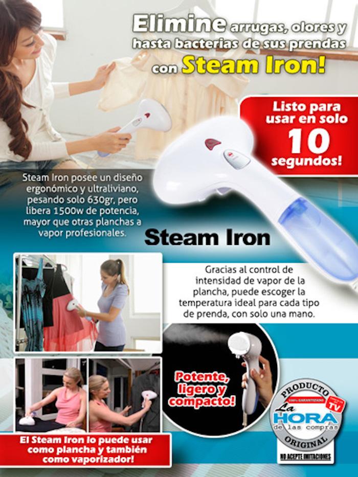 Plancha a Vapor Portátil Steam Iron