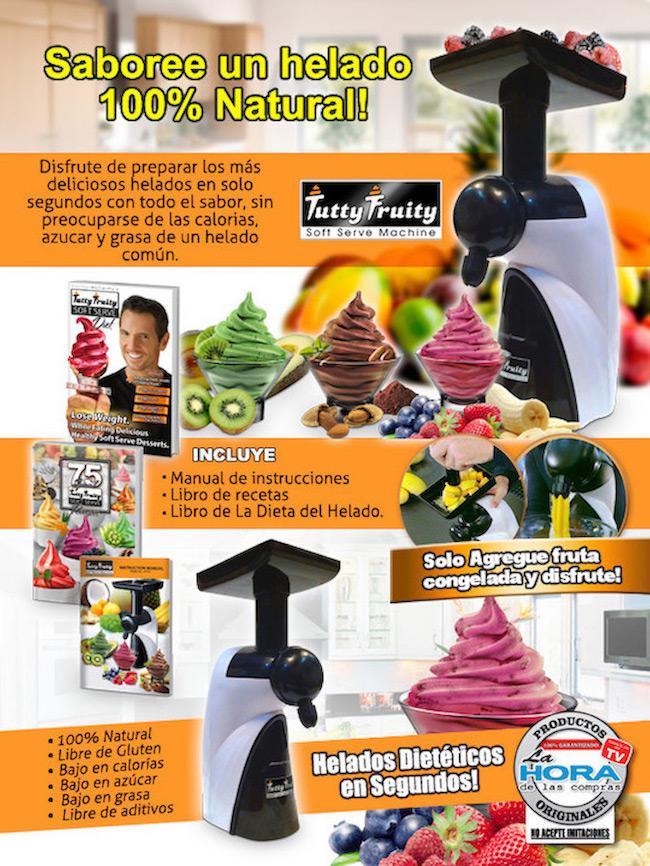 Máquina de Helado Tutty Fruity