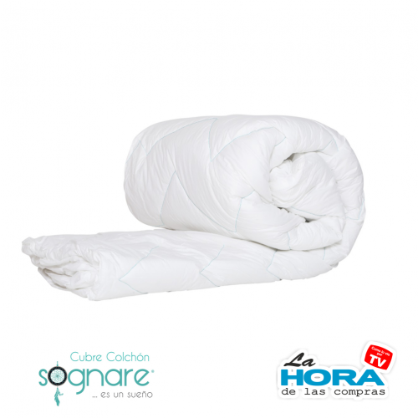Sognare Cubre Colchon - Plaza Y Media (Individual-Matrimonial) 135 Cm X 190 Cm