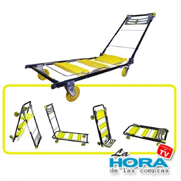Escalera, Montacargas, móvil y plataforma, todo en 1! Total Trolley.