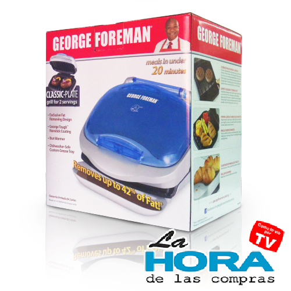 Mini Grill George Foreman con Calentador de 2 Panes